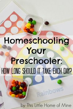 Homeschooling Your Preschooler: How long should a homeschool preschool day last? - This Little Home of Mine