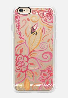 Watercolor Flowers iCasetify iPhone 7 Case and Other iPhone Covers - TITLE by Li Zamperini | #Casetify