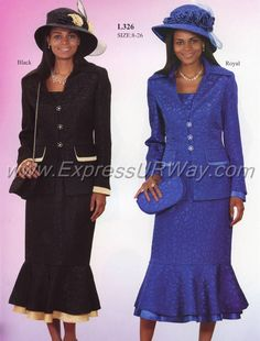 Womens Suits by Lyndas of New York -  - www.ExpressURWay.com - Womens Church Suits, Church Suits for Women, Ladies Suits, Skirt Suits