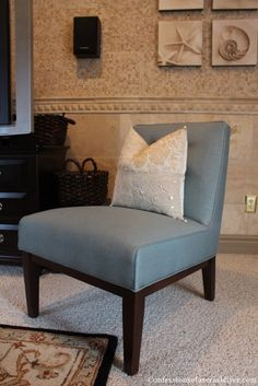Slip Covering An Armless Accent Chair Sewing Pinterest