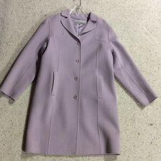 Anne Klein coat Anne Klein wool and nylon blend lilac coat Anne Klein Jackets & Coats