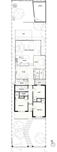 Halve this floor plan and it's perfect  Gallery Of Lawes St Extension By Habitech Systems In Hawthorn, Vic Australia (1)