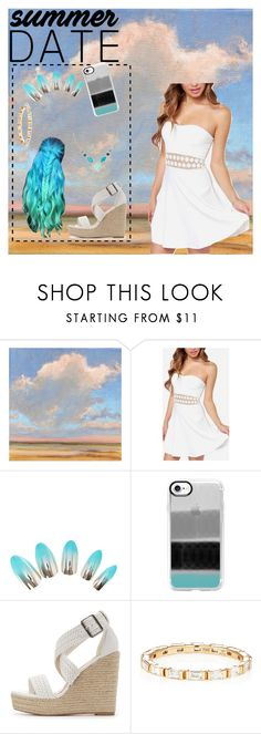 """Summer date (contest)"" by people-are-annoying ❤ liked on Polyvore featuring Casetify, Charlotte Russe, Eva Fehren and Argento Vivo"