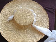 Tutorial:  How to turn a straw sunhat into an 18th century bergere from the Dreamstress