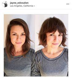 Short Haircuts With Bangs, Bob Haircut With Bangs, Bob Hairstyles For Fine Hair, Medium Bob Hairstyles, Undercut Hairstyles, Short Hair Cuts For Women, Undercut Bob, Short Hair Ponytail, Short Hair