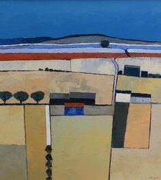 Mary Pym (b.1935) (ARR), Harvest Time, signed, oil on board, 57.5 x 52.5cm. Hammer price £340