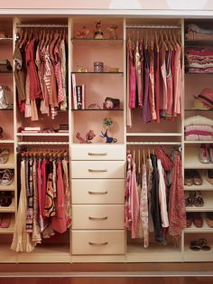 Storage Furniture. a good way to store clothing for both men and women split in half to share for two.