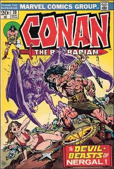 conan the barbarian comic book covers marvel | Conan the Barbarian (1970) 30-A by Marvel