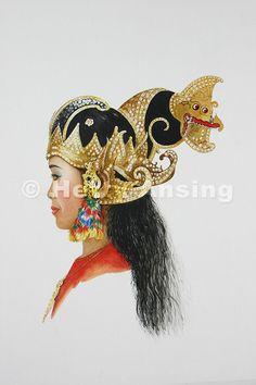 Femal dancer of Yogya