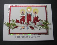 Glowing Candles by Beverly Sue Wilson - Cards and Paper Crafts at Splitcoaststampers