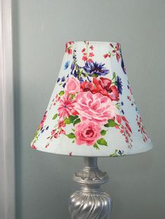 Floral Lamp Shade, Shabby Chic Lamp Shade, Rose Lamp Shade, Eclectic Lamp Shade, Boho Lamp Shade, FREE SHIPPING - Continental USA