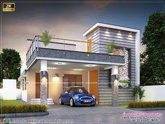 Simple House Exterior Design, House Balcony Design, House Outer Design, Two Story House Design, House Outside Design, Architectural Design House Plans, Village House Design, Kerala House Design, Bungalow House Design