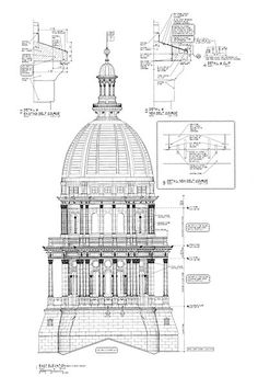 Section through garnier 39 s new opera house paris history for Famous building blueprints
