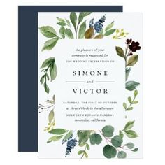 Eucalyptus Grove Wedding Invitation - autumn wedding diy marriage customize personalize couple idea individuel #diywedding #weddinginvitation