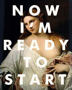 Arcade Fire lyrics poster with a fine art reproduction background. #arcadefire #artposter #fineart #readytostart