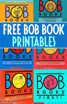 Bob books are great at helping emerging readers put their phonics skills into practice and feel successful at reading. Kids Reading, Teaching Reading, Reading School, Reading Practice, Shared Reading, Guided Reading, Homeschool Kindergarten, Homeschooling, Kindergarten Books Free