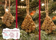 Frilly Farm Designs-- Bullet Casing Tree Ornaments