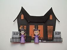 3D ~ 935 Haunted House RIP Witches Halloween Scrapbook Card Paper Embellishment