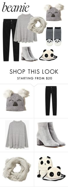 """""""Panda hat"""" by janew455 ❤ liked on Polyvore featuring Hollister Co., Closed, MANGO, Gianvito Rossi, Pure Collection and Forever 21"""