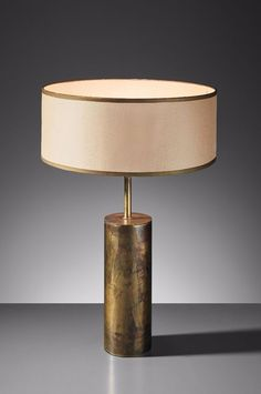 Concrete and brass lamp graham green things light jacques quinet brass table lamp from the zambeze ocean liner 1971 aloadofball Images