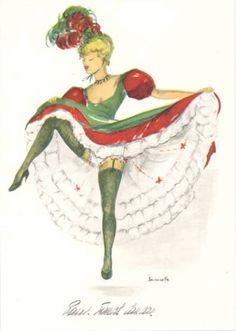 alice huertas french cancan femme rotique rotic beautiful girl rh pinterest com Vintage Clip Art Can Clip Art