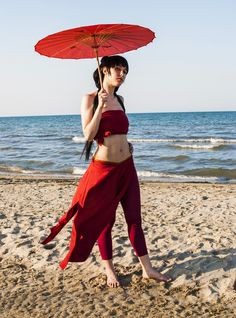 https://flic.kr/p/H1ARei | Sunset - Mai (Avatar: The Last Airbender) | Photographer: The hangar www.facebook.com/TheHangar101/?fref=ts  Me ( www.facebook.com/DarkWingsTira / www.drosseltira.deviantart.com ) as Mai from Avatar: The Last Airbender. beach party episode maiko cosplay swimsuit costume dress