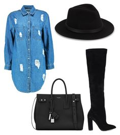 """Out"" by glojiggy on Polyvore featuring Boohoo, ALDO, Yves Saint Laurent and Saks Fifth Avenue"