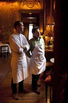 Mathieu et Bernard Pacaud à l'Ambroisie, restaurant Paris 4e © Maurice Rougemont
