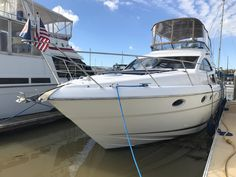 Fairline Phantom 46 Luxury Motor Yacht She's fast, safe and cuts waves better then most with her deep V. 3 staterooms can accommodate 6 guests with 2 heads. Luxury Yachts For Sale, Yacht For Sale, Power Boats For Sale, Airbrush Designs, Boat Dealer, Motor Yacht, Sailing, Waves, Ocean