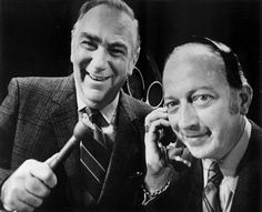 Bob and Ray. First men of funny radio.  (Bob Elliott and Ray Goulding)