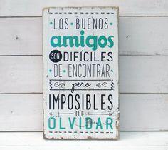 Letreros vintage amigos | LOS BUENOS AMIGOS... - comprar online