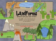 Landforms SMARTboard Interactive Activity- Games and Discovery Education Links  (27 pages, $)