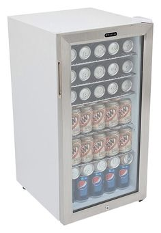Shop Whynter 120-Can Beverage Refrigerator White cabinet with stainless steel trim at Best Buy. Find low everyday prices and buy online for delivery or in-store pick-up. Price Match Guarantee.