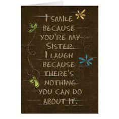 Birthday for Sister humor-floral glitter Card - glitter glamour brilliance sparkle design idea diy elegant