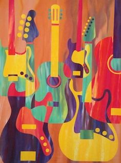 Groovy Guitars Pattern by Robbi Joy Eklow is inspirational.