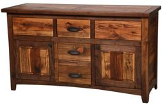 Rustic Walnut 5′ Free Standing Vanity, Blue Ridge Log Works, Ft. Collins, CO