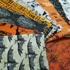 We're all a bit batty here! :jack_o_lantern: Make sure to check out our spooky Halloween fabric before it flies away! #hancocksofpaducah #halloween #fabric