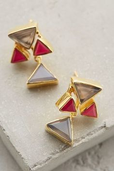Kanupriya Stone Angle Earrings