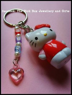 Personalised Hello Kitty key chain.  Part of the Hello Kitty jewellery box that was made for  special little girls birthday xx