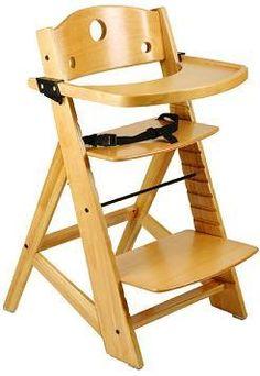 NEW Keekaroo Adjustable Height Right Wood High Chair |