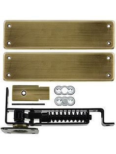 Pivot Door Hinge. Heavy Duty Swinging Door Floor Hinge With Solid Brass Cover Plates