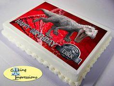 Jurassic World Edible Image Cake Topper by CakingImpressions Birthday Fun, Birthday Parties, Birthday Cakes, Birthday Ideas, Jurassic World, Jurassic Park, Party Ideas, Party Party, Cupcake Cakes