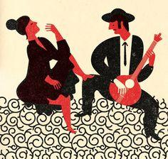 Artwork for a Fado CD cover, André da Loba.