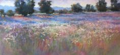 Marianna McDonald - Late Evening June Fence Row (large view) pastel