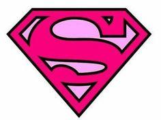 Details About SUPERMAN LOGO PINK IRON ON T SHIRT TRANSFER A4 cakepins.com