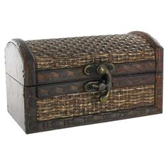 Mini Brown Tweed Box is crafted from MDF and features a trunk style design. The hinged lid opens up to expose a hollow, brown interior perfect for storing small Brown Interior, Mini Paintings, Decorative Storage, Hobby Lobby, Storage Organization, Tweed, Old Things, Frame, Gifts