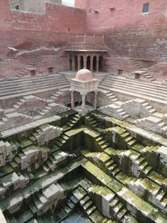Detail of a step well in India (Chand Baori?)