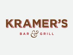 Kramers Bar & Grill - Restaurant Logo - Dribbble