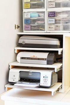impresores dins de moble amb baldes extraibles Trabajando desde Casa...10 Ideas para inspirarnos   Decorar tu casa es facilisimo.com