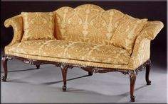 sofa George II style furniture - Henry needed a place to put Daphne down.